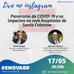 Live sobre o Coronavírus e a rede hospitalar em Santa Catarina