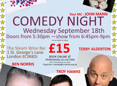 Comedy Night Line Up Confirmed!