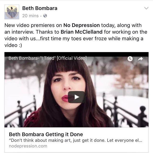 "Beth Bombara ""I Tried"" Vid Premieres Via No Depression"