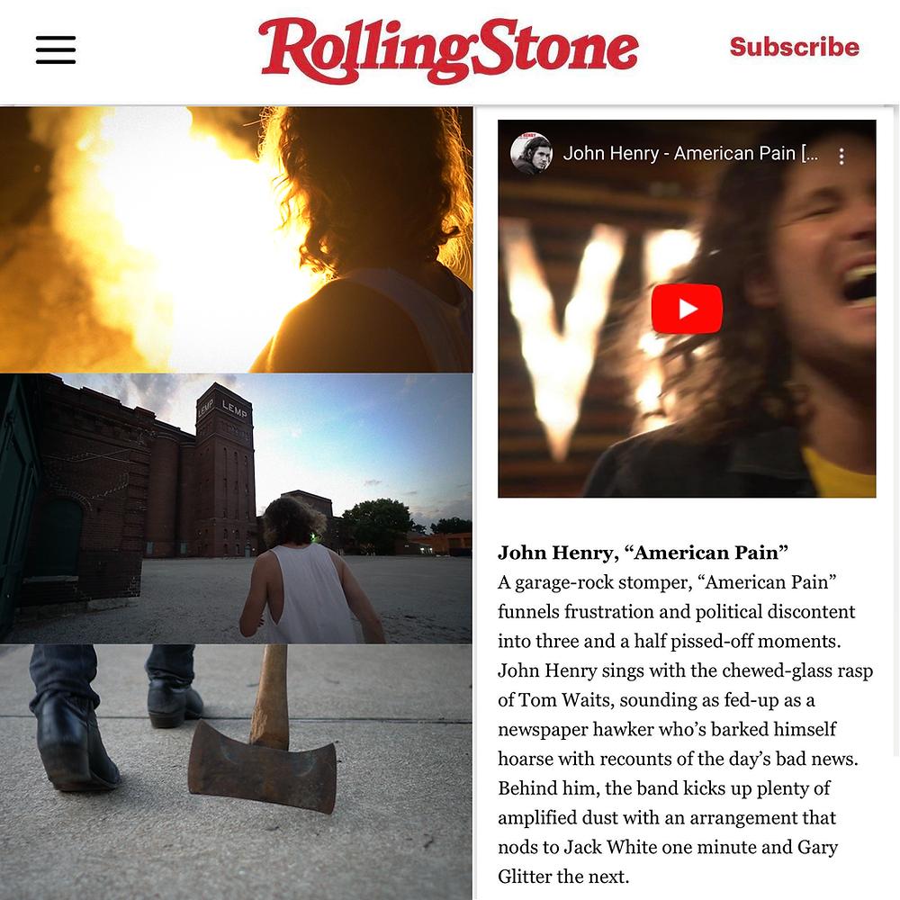 Rolling Stone Premiere's John Henry's New Vid