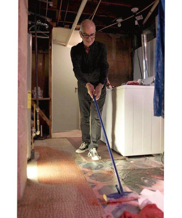 Tony Visconti mops up a bloody basement Kristeen Young shoot.