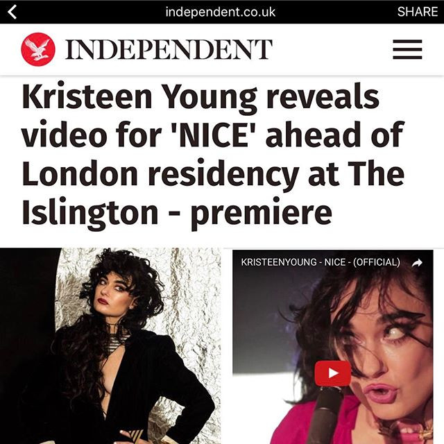 "Kristeen Young's ""Nice"" Gets Independent UK Premiere"