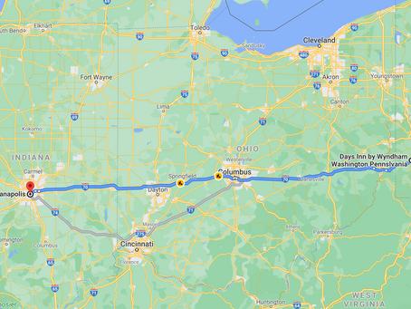 Coast2Coast: Day 2: Washington, PA -> Indianapolis, IN