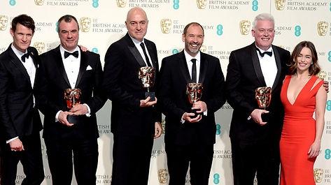 Neal Scanlan winning his 2016 BAFTA for Best Achievement in Visual Effects