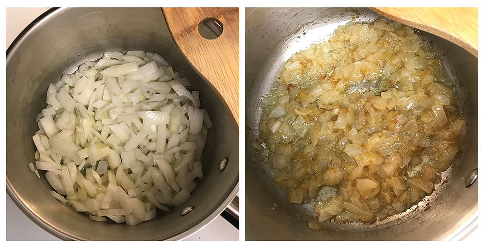 Onions, before and after