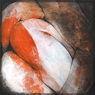 Gros Étienne, Les genoux rouges, 40x140.