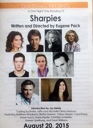 """""""Sharpies"""" by Eugene Pack, Staged Reading, Guild Hall, Summer 2015"""