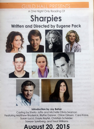 """Sharpies"" by Eugene Pack, Staged Reading, Guild Hall, Summer 2015"