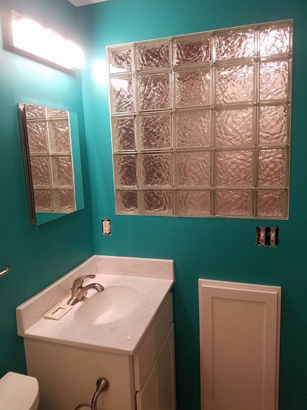 New Brighton Basement Laundry and Bathroom Remodel