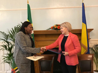 DOMINICA ESTABLISHES DIPLOMATIC RELATIONS AND SIGNS VISA WAIVER AGREEMENT WITH UKRAINE