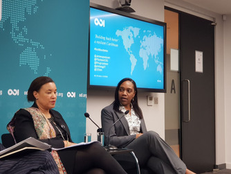 Honourable Francine Baron on panel - ODI conference 'Building Back Better: a resilient Caribbean'