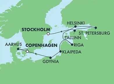 Mer Baltique, Russie & Pologne
