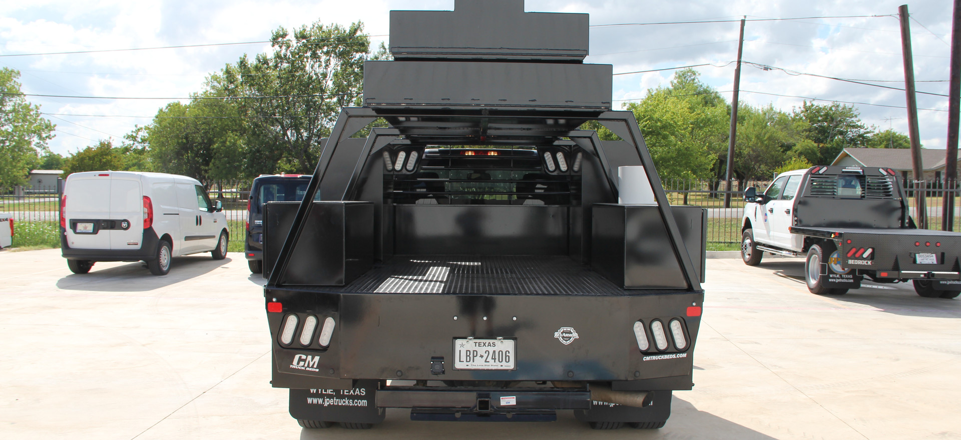 Customized Flat Bed with Ladder Rack and