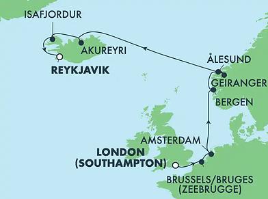 Norwegian PRIMA ! Londres, Pays-Bas, Fjords & Islande