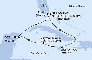 Croisière Caraibes Saint-Valentin - MSC Seashore