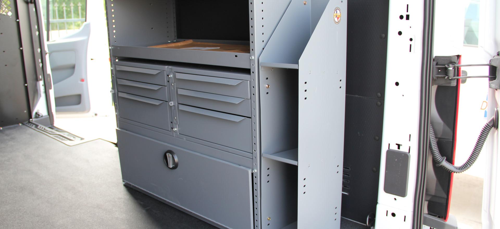 van shelving 3 drawer and manual rack.JP
