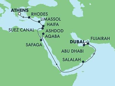 Traversée du Canal de Suez Dubai, Jordanie, Égype et Israel