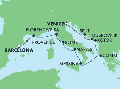 Croisière Splendeurs de la Méditerranée