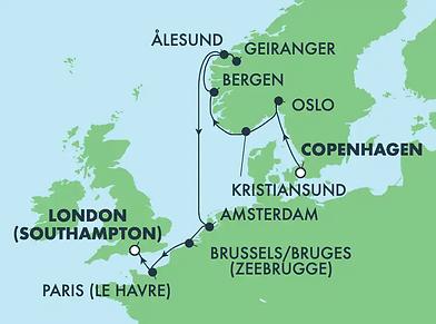 Norwegian PRIMA ! Fjords de la Norvège, Pays-Bas, Paris & Londres