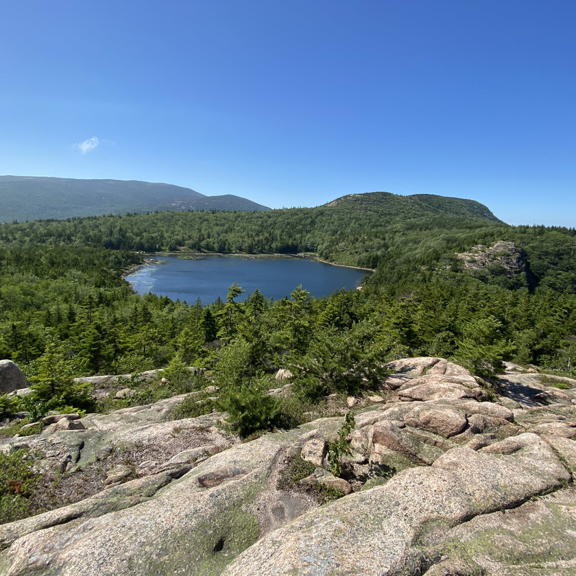 The Bowl on Beehive Loop in Acadia National Park Maine by Biteinerary