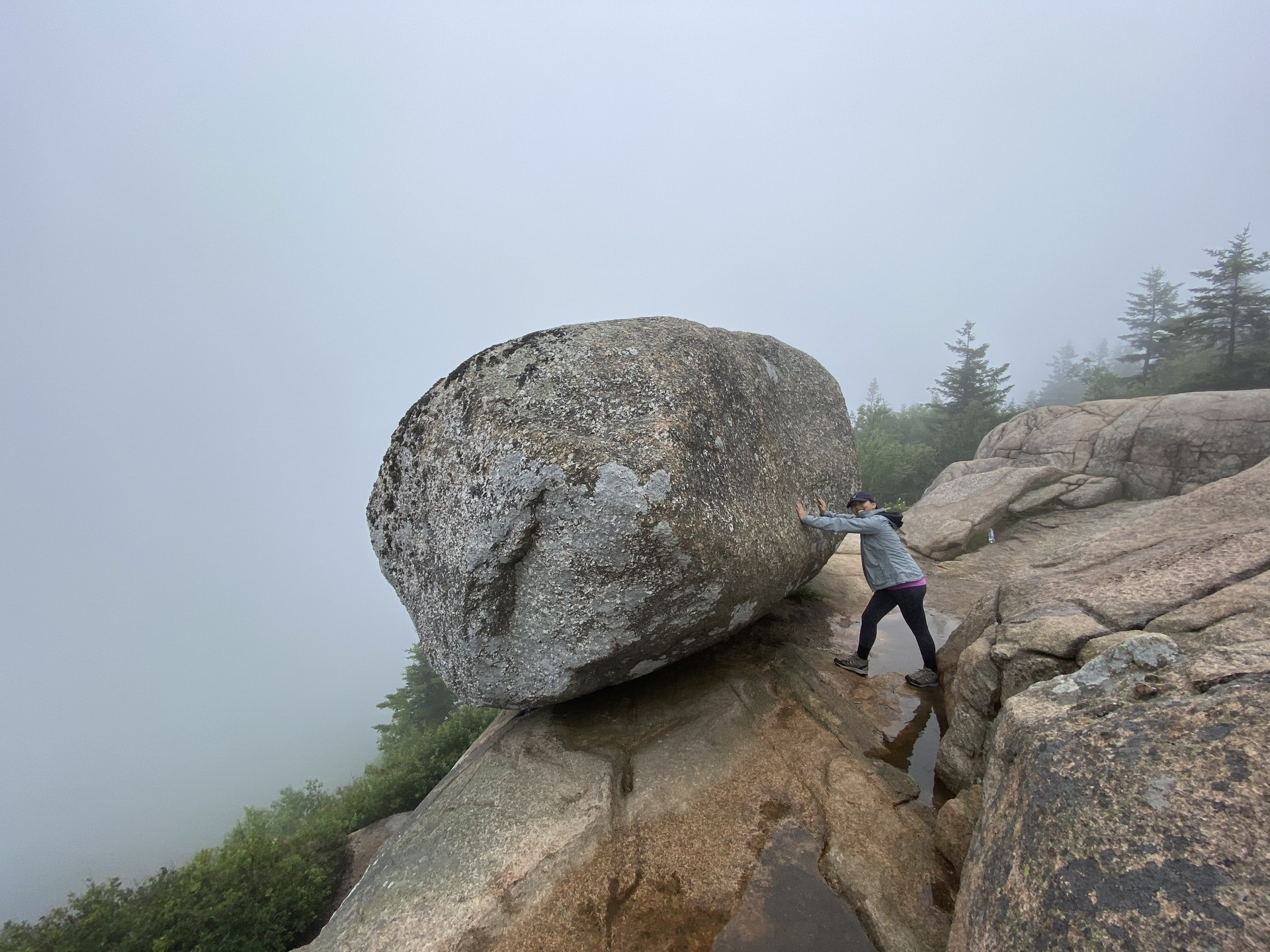 The South Bubble Rock at Acadia National Park by Biteinerary