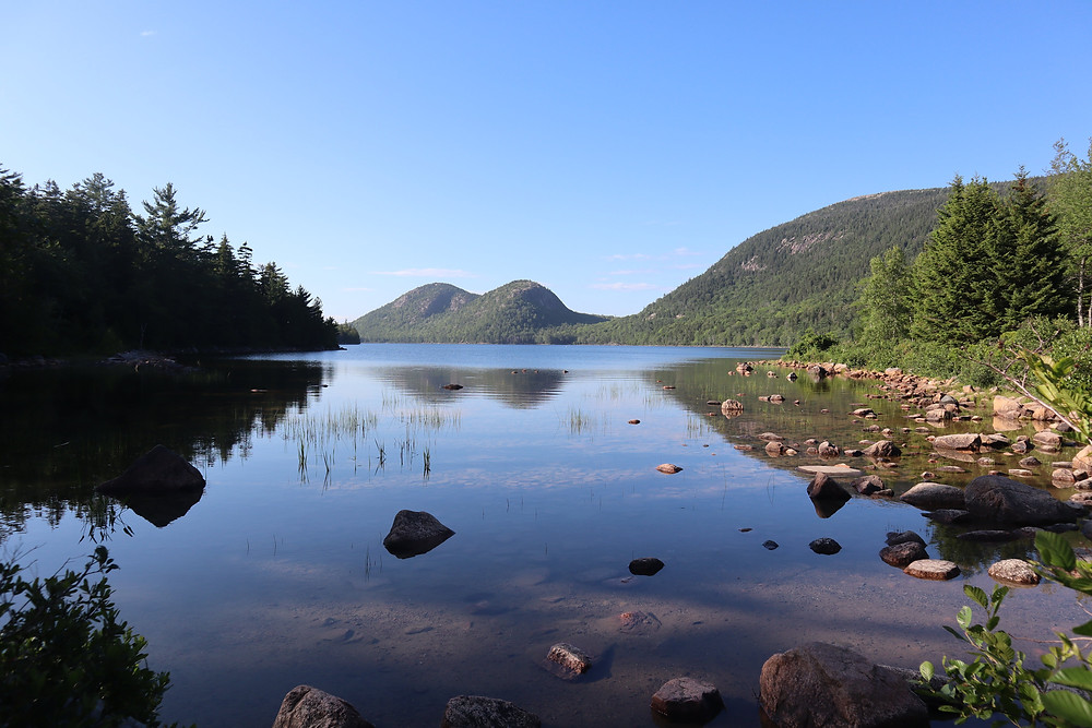 The Bubbles at Jordan Pond in Acadia National Park by Biteinerary