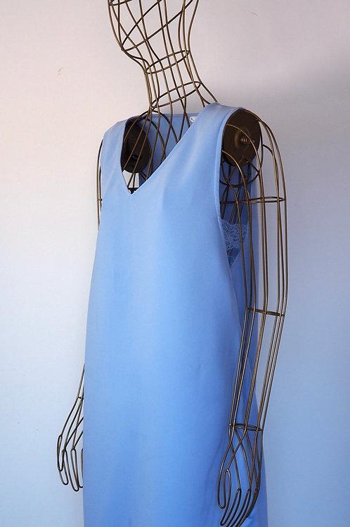 MANGO Blue Dress with Lace