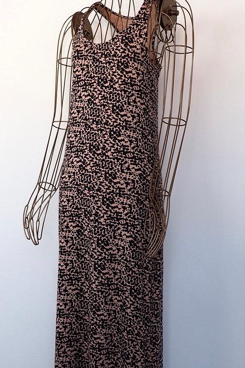 H&M Peach Leopard Maxidress