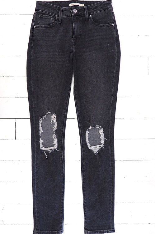 LEVI'S Distressed 721 High Rise Skinny Jeans