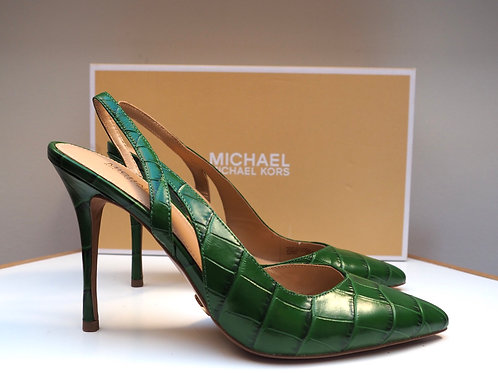MICHAEL KORS Grassgreen Snake Heels