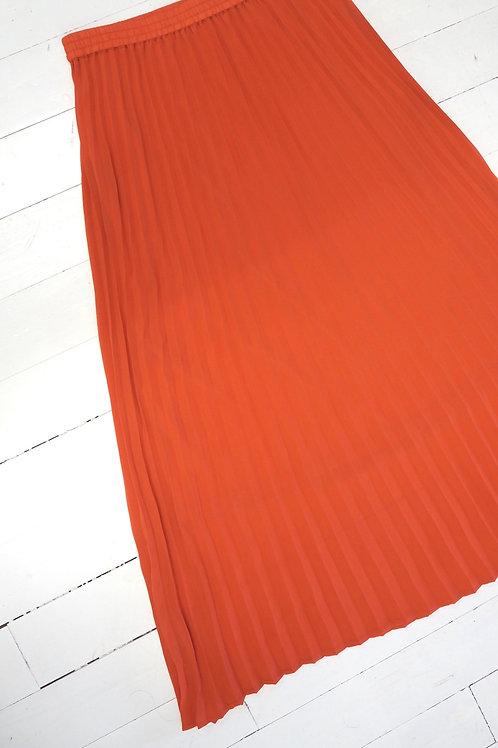 JUST Pleated Orange A-line Skirt