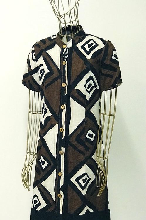PHASE EIGHT Linen Tribal Shirtdress
