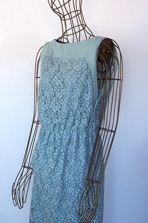 ZARA Light Green Lace Dress