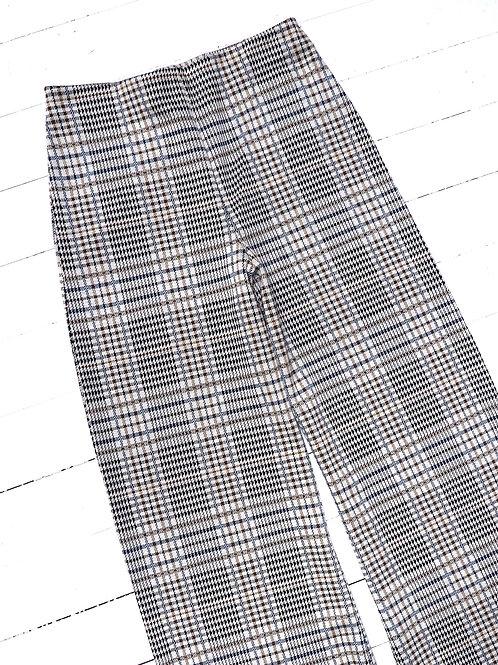 H&M Checked Wideleg Pants