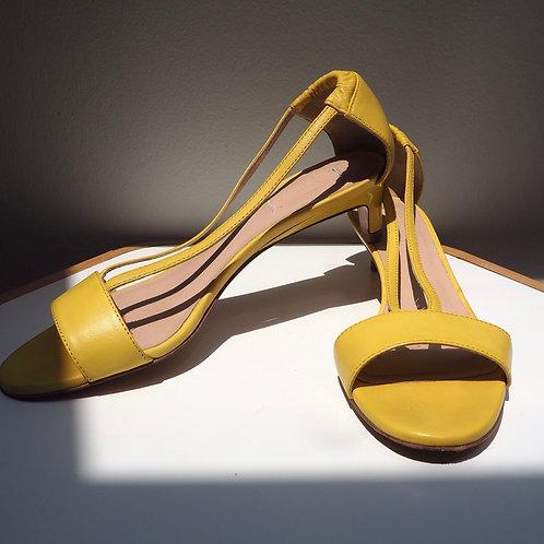 MAX MARA (INTREND) Yellow Mini Heels Sandals