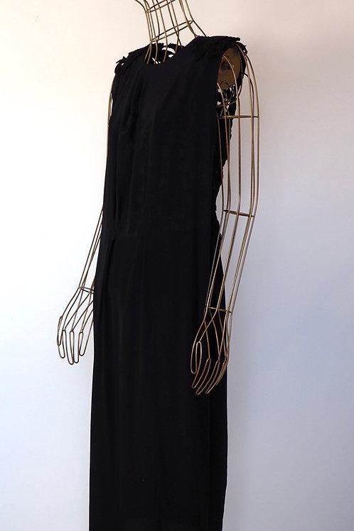 NUBU Black Silk/Lace Dress