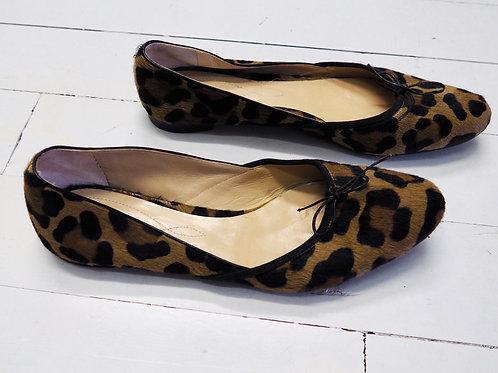 UNÜTZER Leopard Fur Balerinas