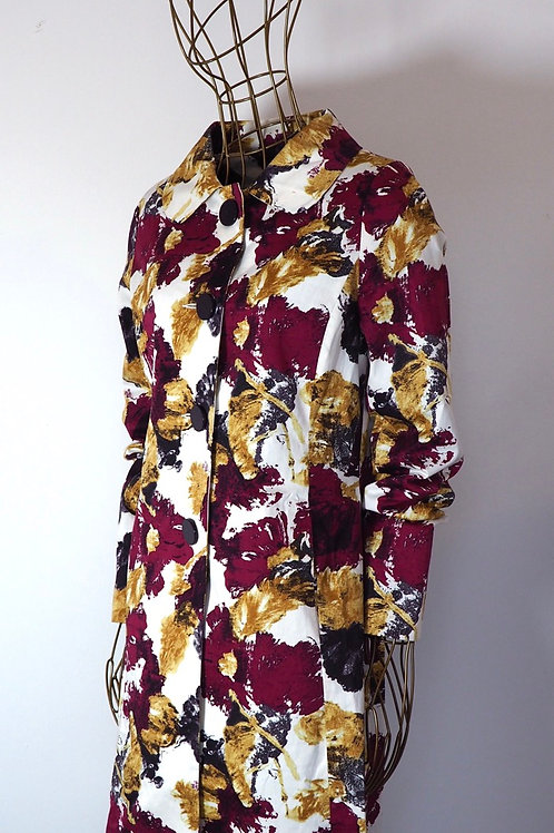 ATMOSPHERE Painted Pattern Trenchcoat