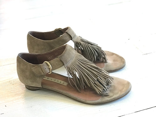 Pura Lopez Leather Sandals