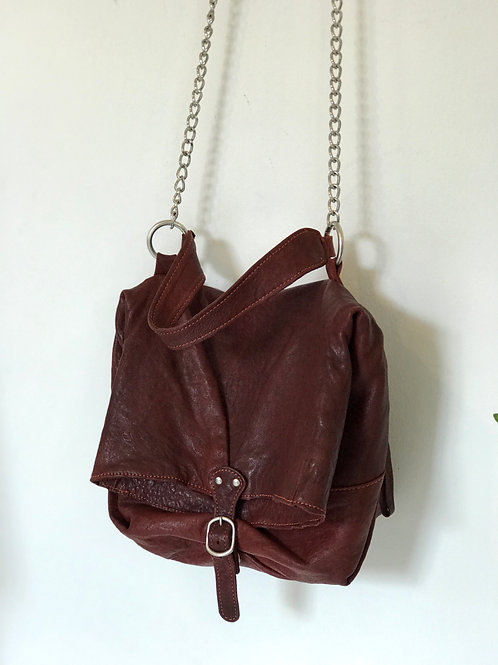 Vera Pelle Chain Leather Bag