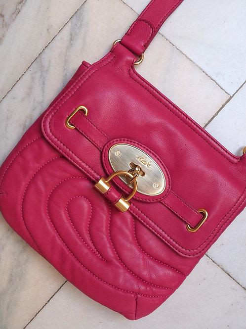 RISK Pink Leather Crossbody Bag