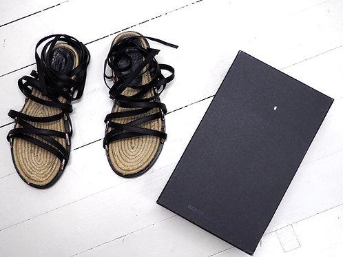 ALEXANDER WANG Adriana Leather Espadrilles Sandals