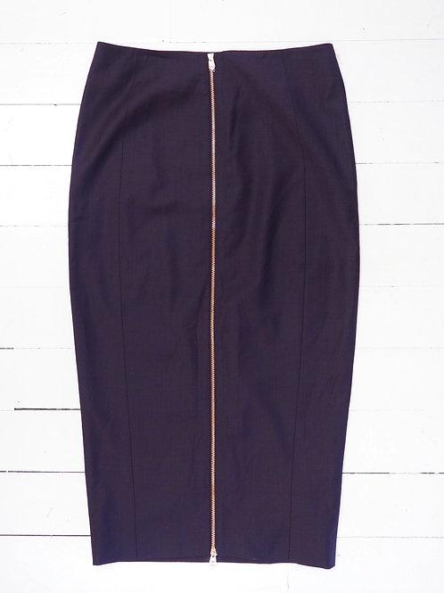 TED BAKER Wool Zip Pencil Skirt