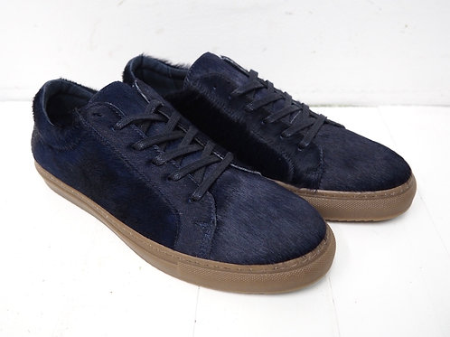 SECOND FEMALE Navy Horsefur Sneakers