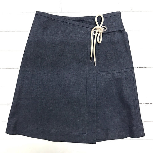 Intrend Denim(ish) Skirt with rope detail