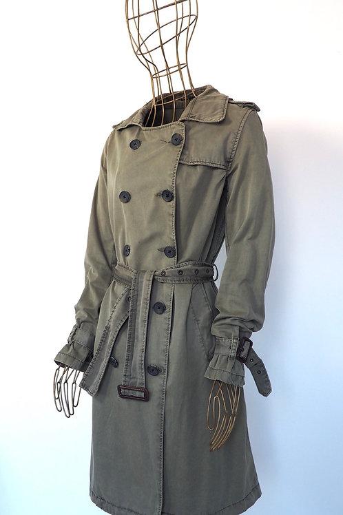 MAISON SCOTCH Khaki Faded Trenchcoat