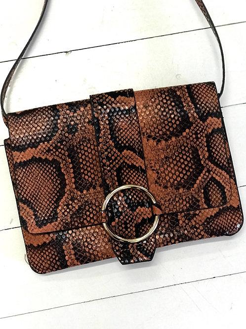 MANGO Snakeskin Printed Crossbody Bag