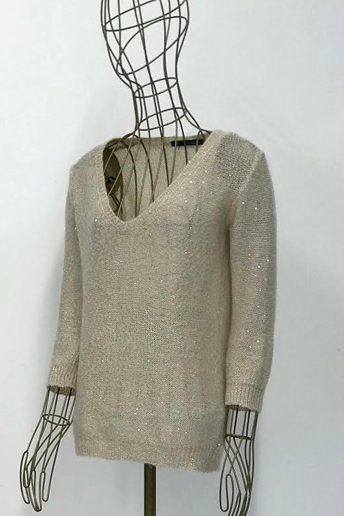 Zara V-Neck Sweater with Pailette