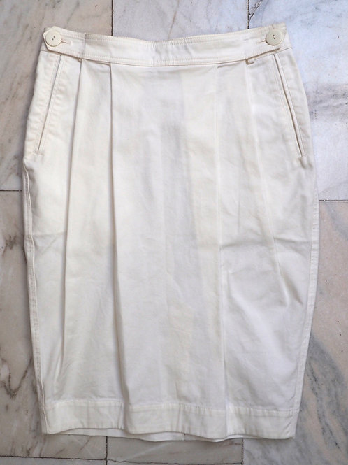 USE Off White Pencil Skirt