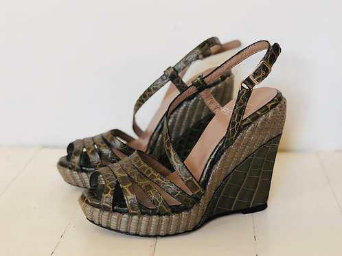 Khaki Gianfranco Ferré Wedges